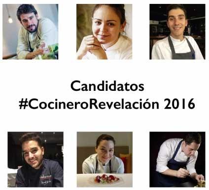 Los candidatos a Cocinero Revelación en Madrid Fusión 2016