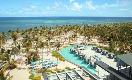 Vista aérea del Pearl Beach Club