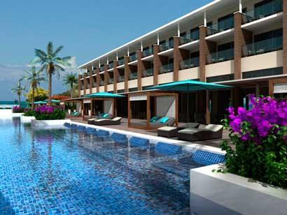 La espectacular infinity pool del hotel