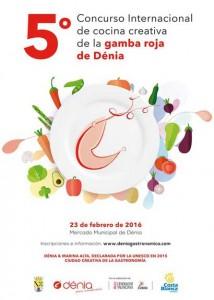Cartel del Concurso Internacional de Cocina Creativa de la Gamba Roja de Dénia 2016