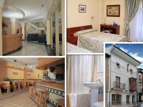 Imágenes del hotel Isabel, en Briviesca, que se vende o alquila
