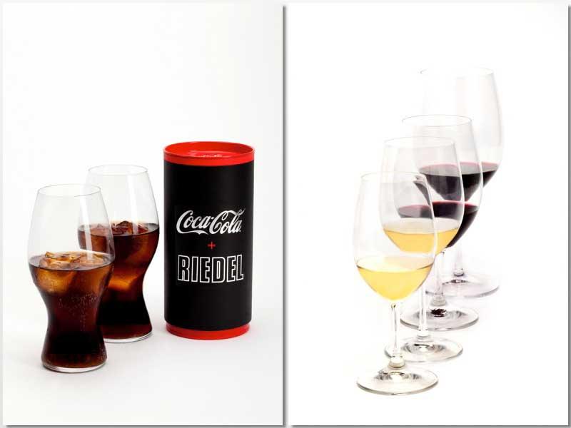 La web permite adquirir el mítico vaso de Coca Cola y diferentes copas Riedel
