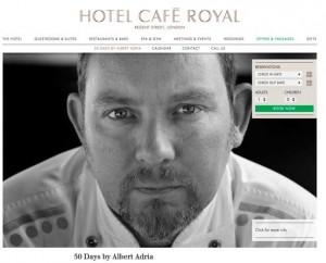 Albert Adriá en el café Royal