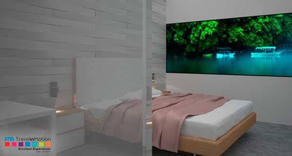 La habitación del hotel contará con una ventana virtual para viajar por todo el mundo