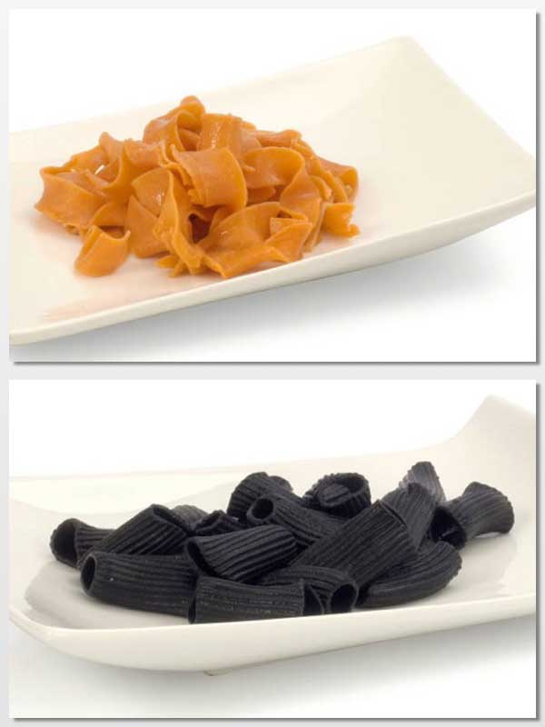 Tagliatelle rojo y Rigatoni negro, de Ibepan