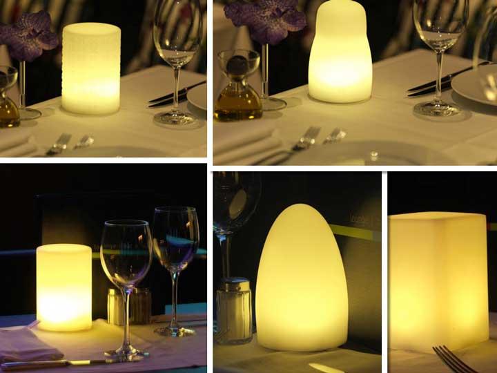 Lámparas Led para sustituir a las velas en la mesa