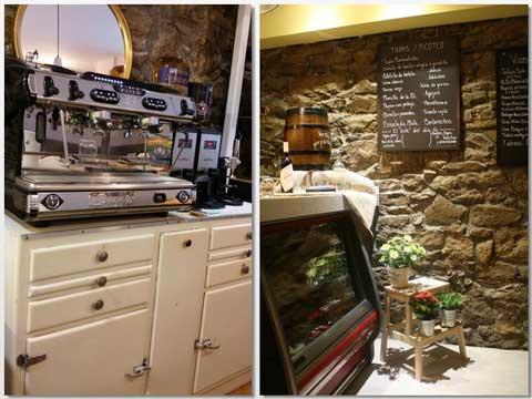 Cafetera y vitrina expositora en Morrocotuda