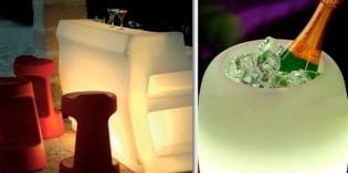 Champaneras con luz y otras soluciones para iluminar una cena romántica