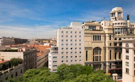 Exterior del el hotel Suecia, en pleno centro de Madrid