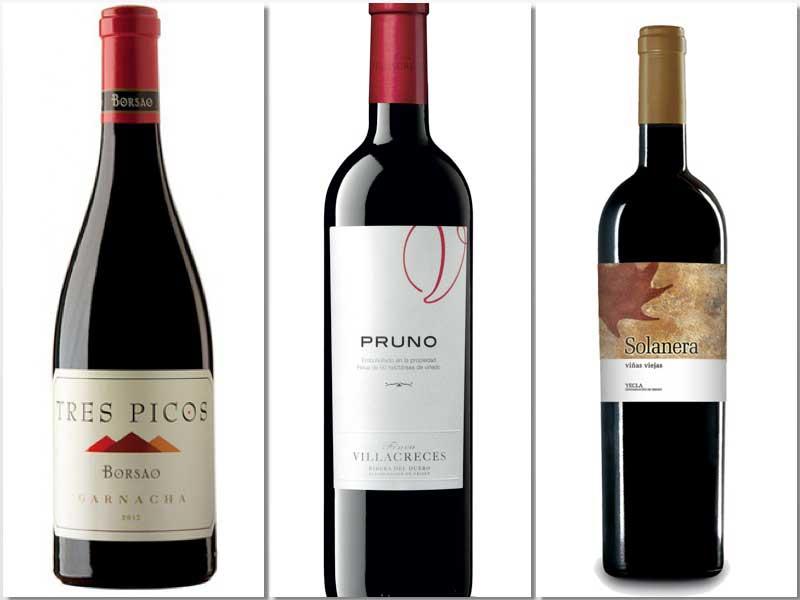 Tres vinos españoles con una excelente relación calidad/precio,