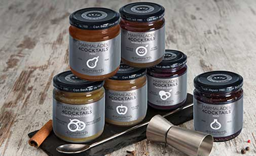 Las mermeladas 4Cocktails se ofrecen en seis sabores