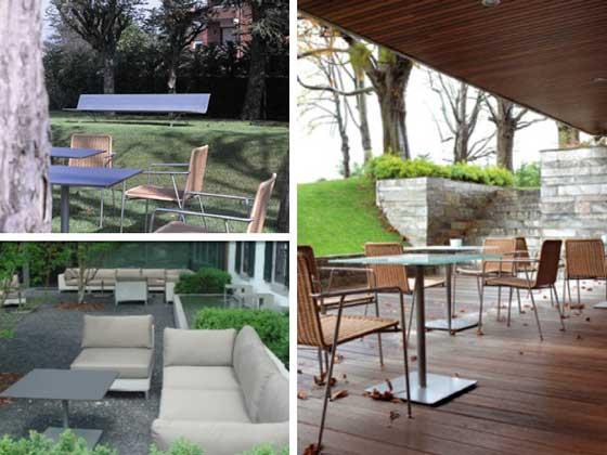 La mesa Planc, en diferentes ambientes de terraza