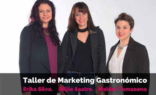 Las especialistas que impartirán el Taller: Erika Silva,, Billie Sastre y Maïder Tomasena