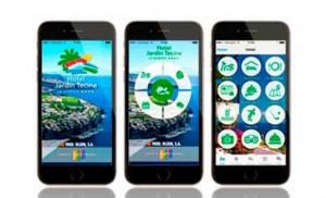 Pantallas en el móvil de la app del hotel Jardín Tecina