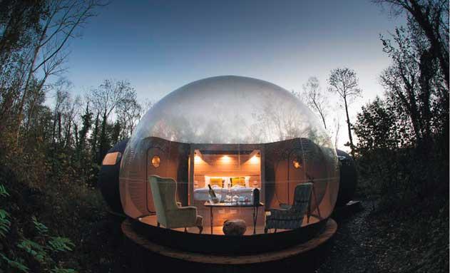 Burbuja hinchable con salón