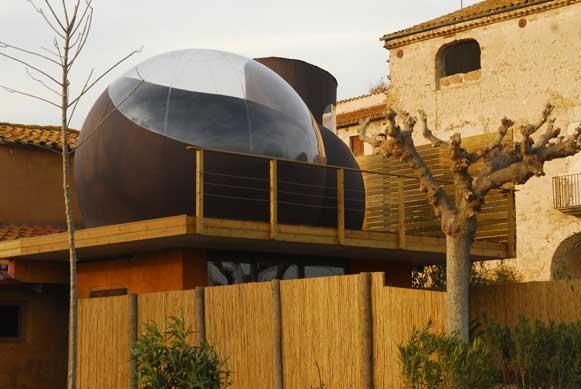 Burbuja hinchable en casa rural