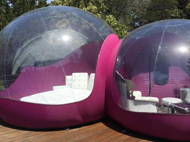 Burbuja doble: habitación + salón