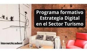Cartel curso de estrategia digital en el sector turismo, del Isdi