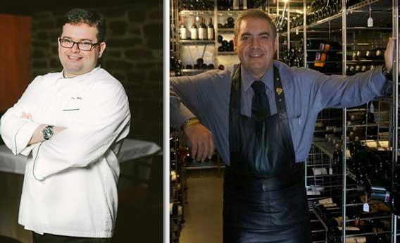 Marcos Morán, nuevo Prix au Chef de l'Avenir, y Mariano Rodríguez, de Arzak, Prix au Sommelier