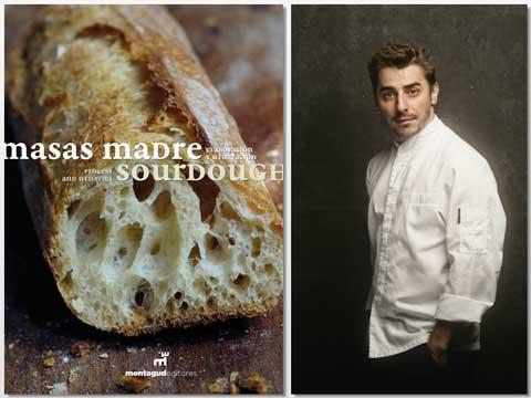 Portada del libro Masas Madre, Prix de la Littérature Gastronomique, y Jordi Roca, primer Prix au Chef Pâtissier