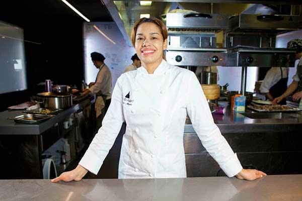 La chef María Marte