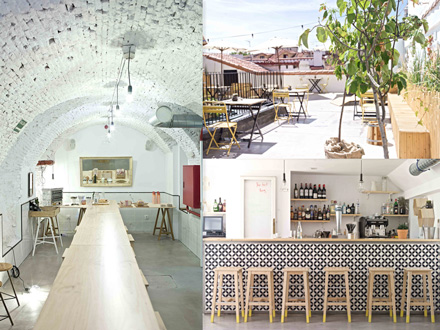 A la izda., la bodega-comedor; a la derecha, la terraza de la azotea, un remanso de paz, y su bar