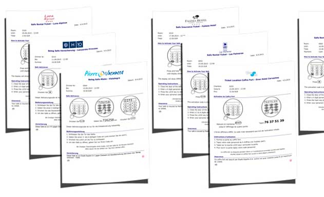 Modelo de tickets generados por el sistema RentYourSafe