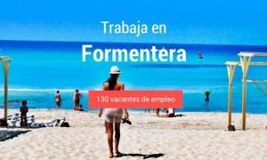Cartel de oferta de empleo en Formentera