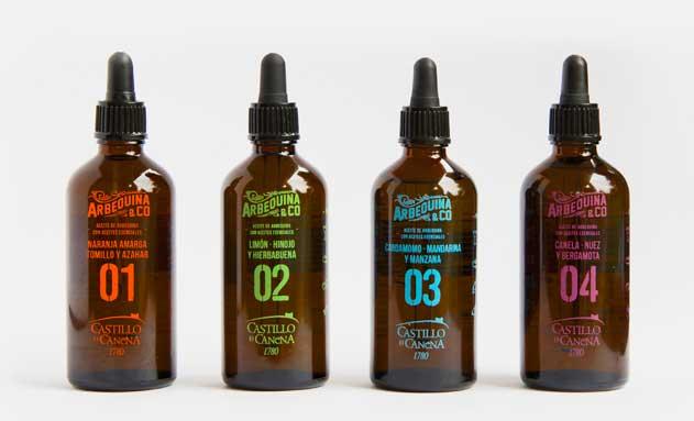 Los cuatro aceites Los aceites Arbequina & Co.