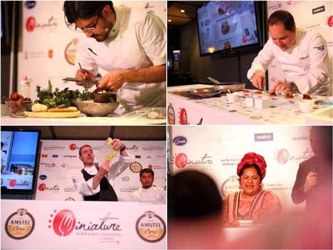 Chefs en MIniatures 2016: Paco Méndez, Enrique Fleichsmann, Alex Múgica y Abigail Mendoza
