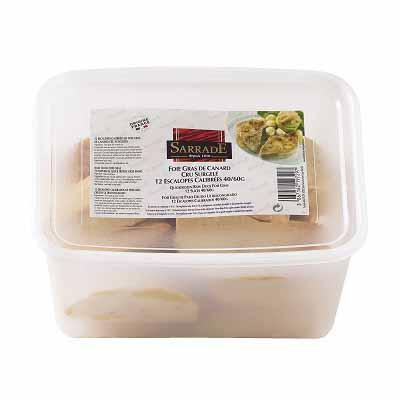Escalopes de foie gras de pato Sarrade