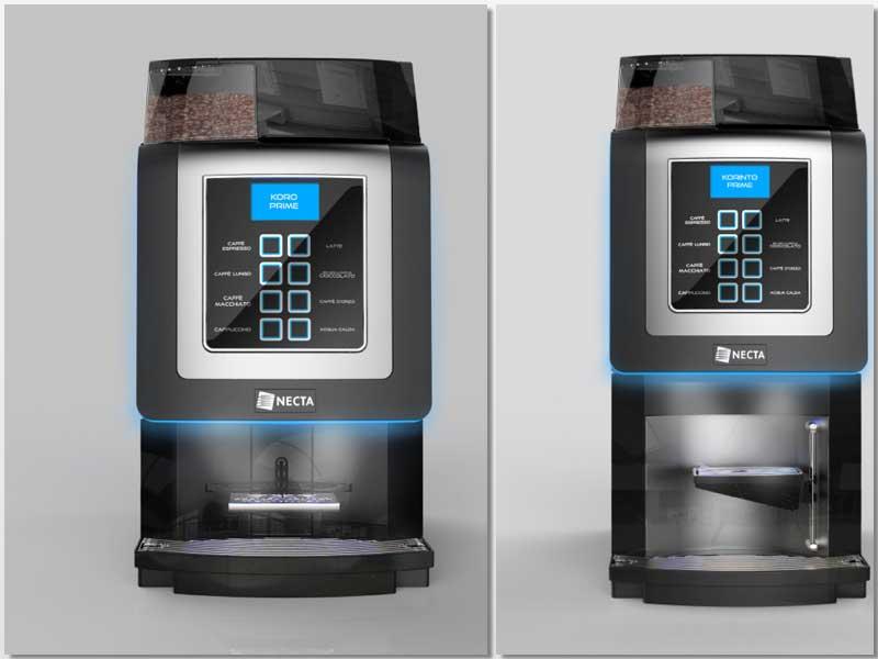 Máquinas de bebidas calientes Koro y Korinto Prima, de Necta