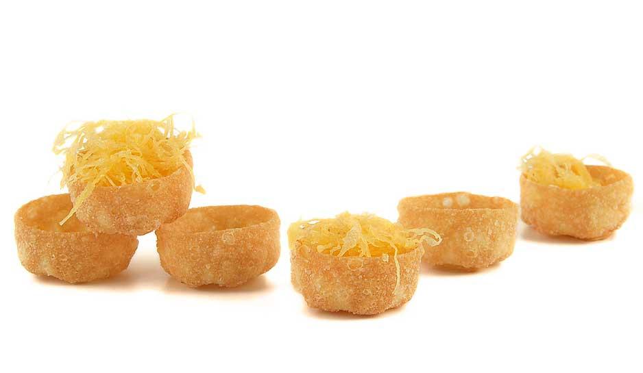 Mini tartaletas de trigo fritas, de Ibepan