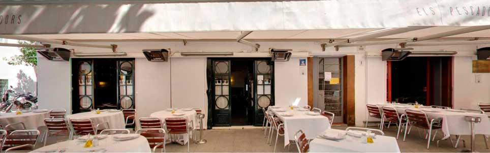 Calefactores terraSchwank en la terraza de El Pescadors (Barcelona)