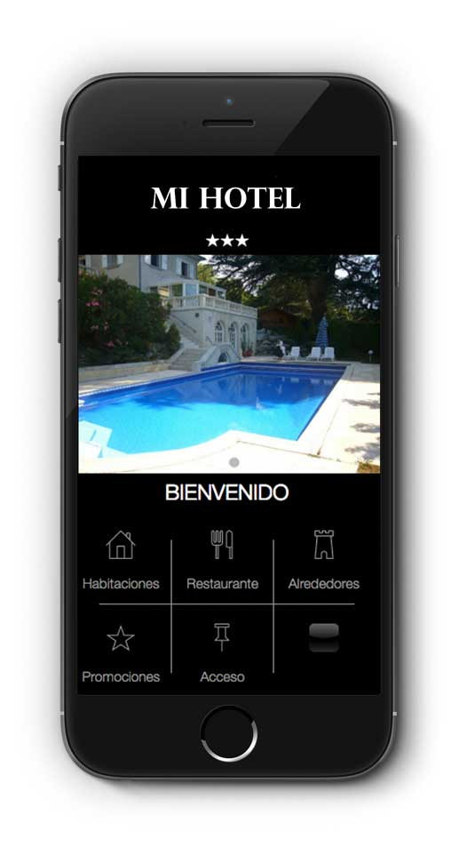 Aplicación de AppYourself para un hotel