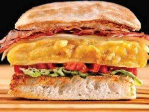Tortilla baby en una hamburguesa