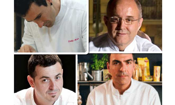 Eneko Atxa, Ricardo Sanz, Ricard Camarena y Ramón Freixa, los chefs finalistas