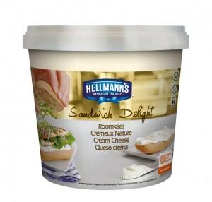 Queso crema Hellmann's, en envase de 1,5 kg