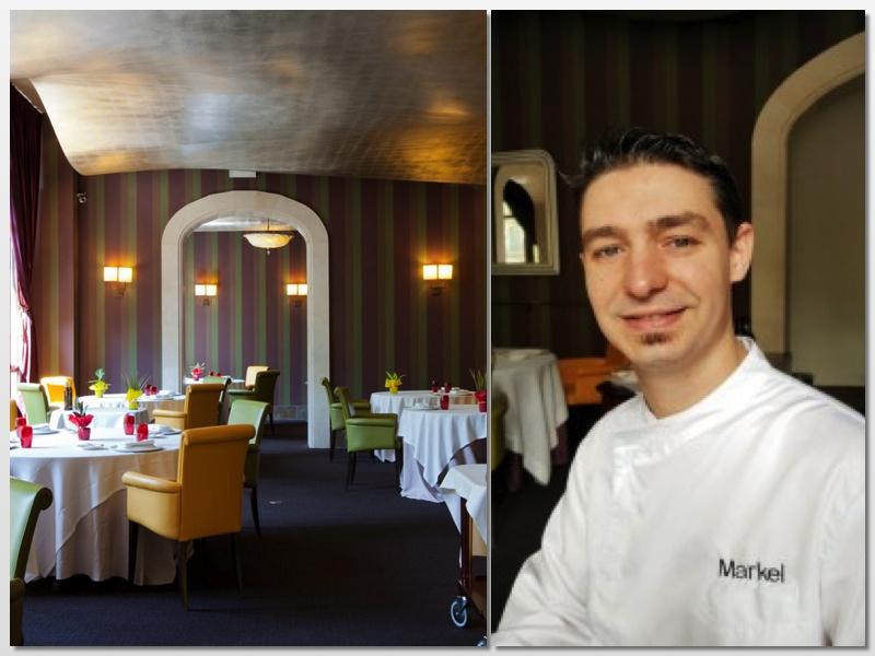 El elegante salón del restaurante Galaxó y el chef Markel Aguirre