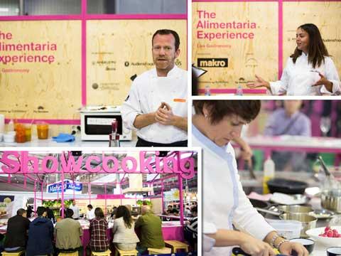 Nuevas figuras de la cocina han protagonizado mucha showcookings de la zona The Alimentaria Experience