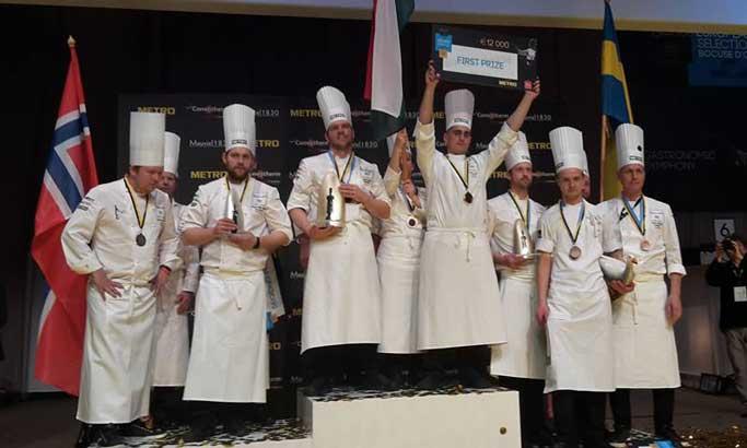 Los equipos de Hungría, Noruega ySuecia, flamantes vencedores de la final europea del Bocuse d'Or