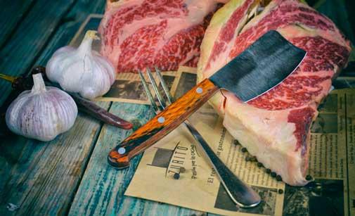 Un cuchillo muy especial para cortar carne