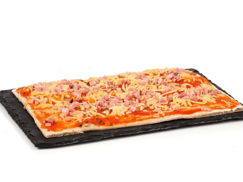 Pizza de jamón York bambino, sin gluten, de Ibepan