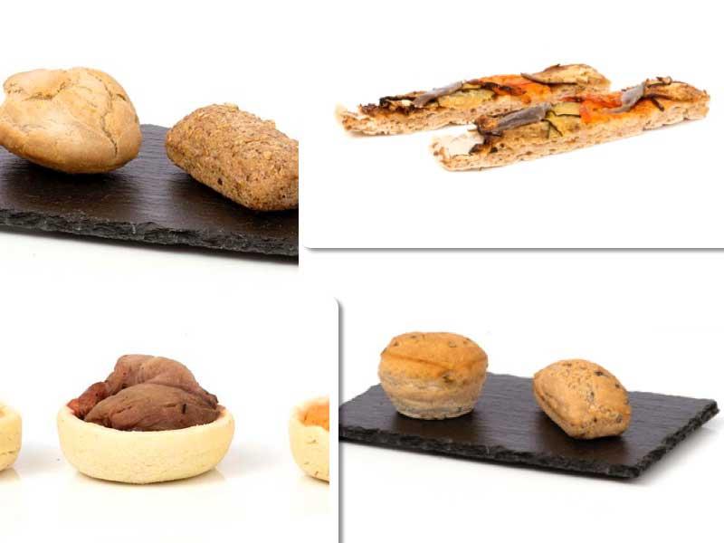 Panecillos artesanos, tartaleta rellena y focaccia, todo sin gluten, de Ibepan