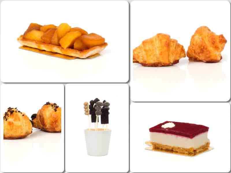 Tarta Tatin, mini croissants, maceta de piruletas de chocolate, cheesecake: todo sin gluten y con excelente sabor. de Ibepan