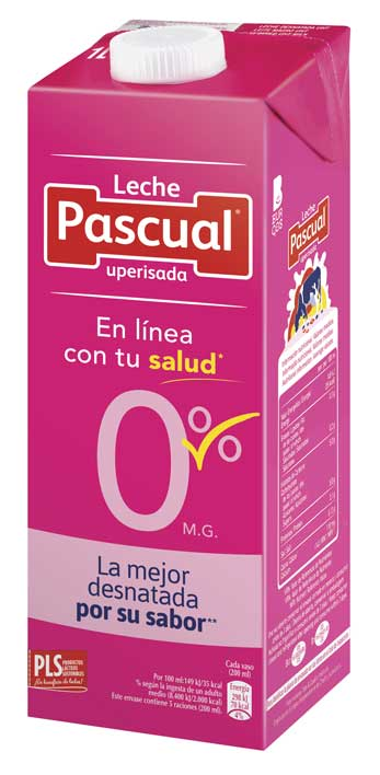 La nueva leche Desnatada 0% de Pascual