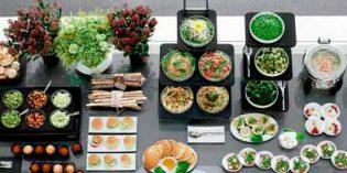 El concepto modular del buffet ideado por Sambonet