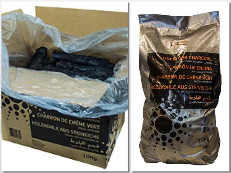 Formatos de carbón de encina Todobrasa