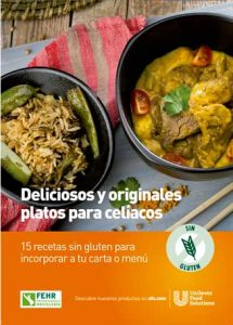 Portada del recetario sin gluten de Unilever Food Solutions