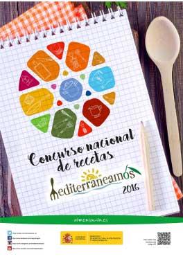 Cartel del concurso de recetas Mediterraneamos